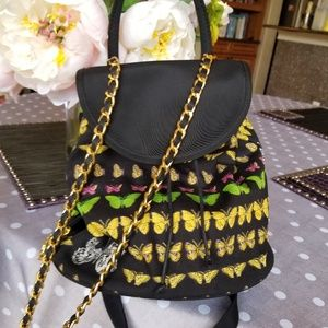 AUTHENTIC VERSACE Vintage Butterly Backpack